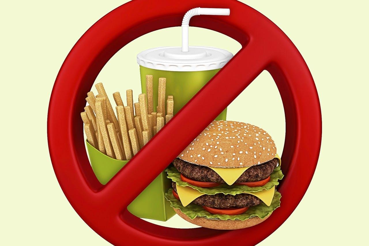 Картинка запрет еды
