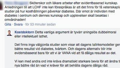 Dubbelmoral från diabetesvården