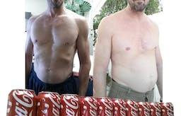 Före och efter 1 månad med Coca-Cola