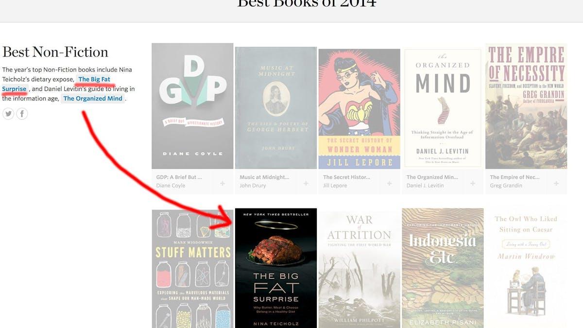 Sågning av fettskräcken bland årets bästa böcker