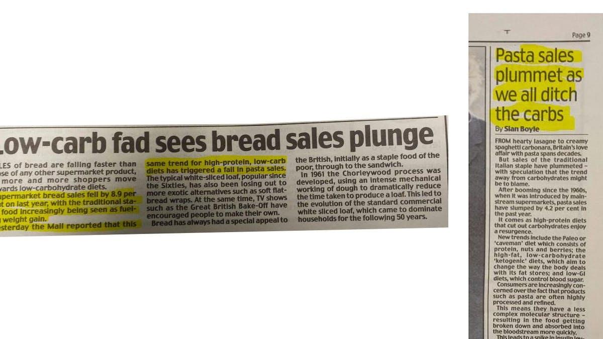 Bröd- och pastaförsäljningen rasar på allt fler ställen