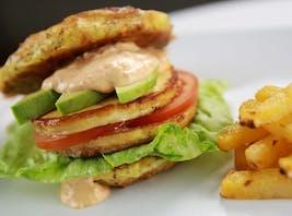 Vegetarisk LCHF-hamburgare