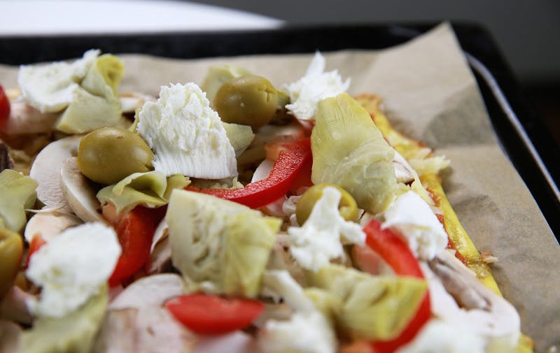Vegetarisk LCHF-pizza