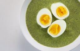 Vegetarisk torsdag: Spenatsoppa med ägghalvor