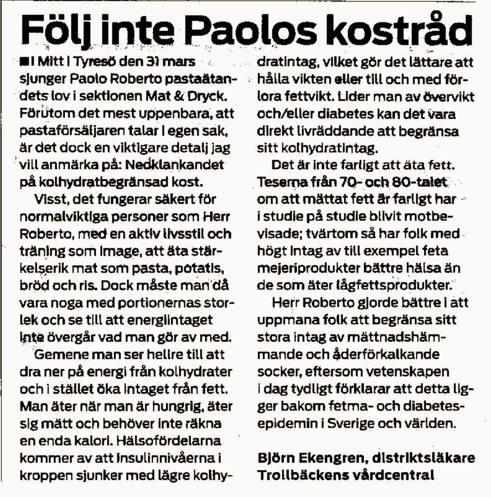 Paolo får svar på tal igen