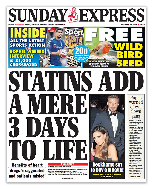 Stora rubriker om statiner