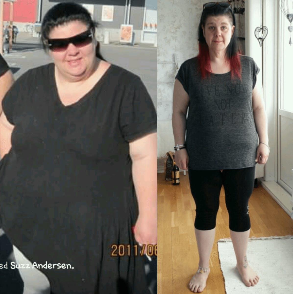 Minus 47 kg genom att banta med fett