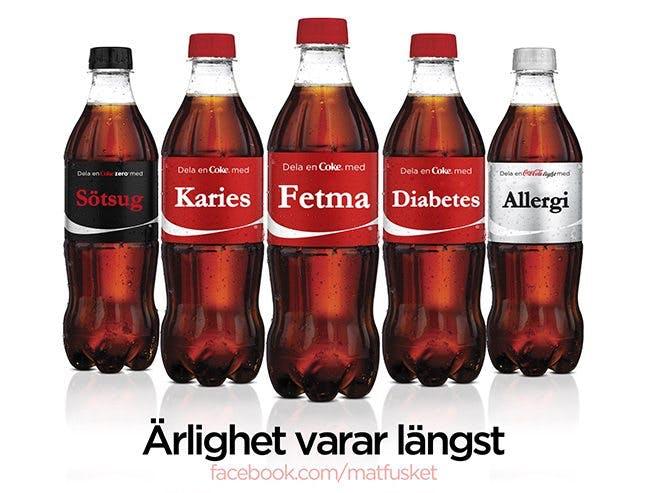 Dela en Coca Cola med fetma