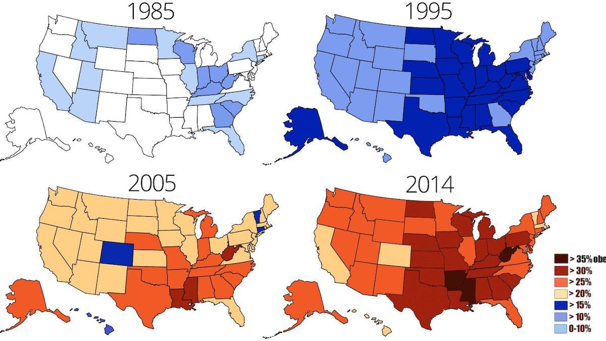 Den amerikanska fetmaepidemin når nya rekord
