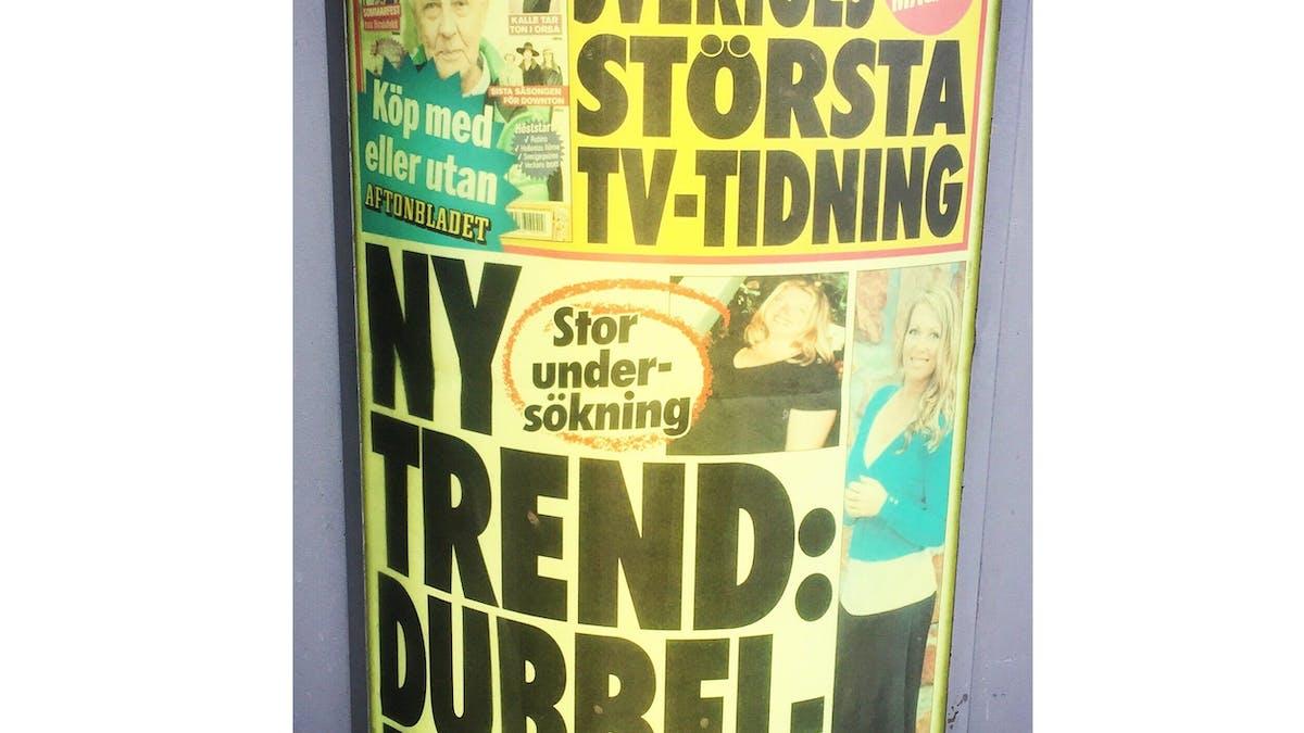 Nya trenden enligt Aftonbladet: Dubbelbanta