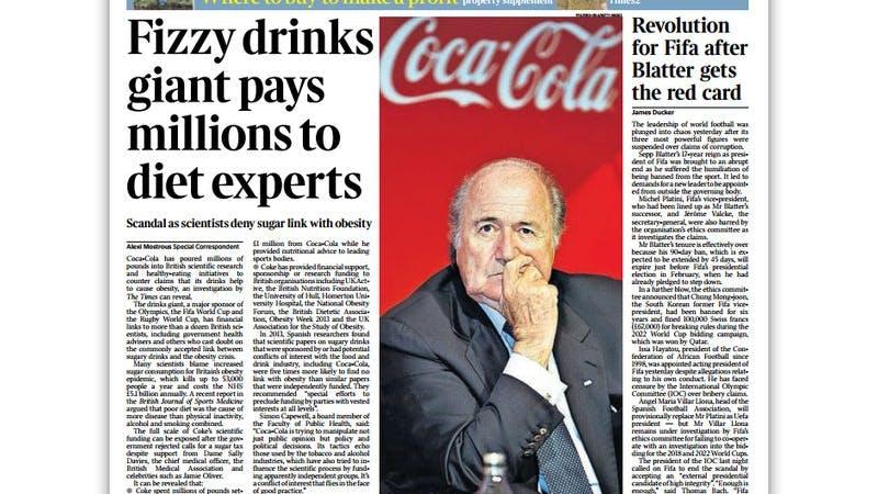 Skandalen med Coca-Cola-sponsrade fetmaexperter når Storbritannien