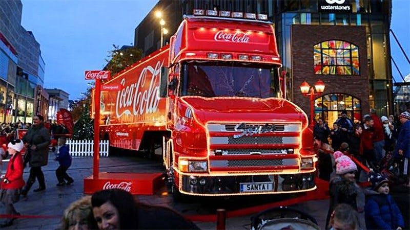 Coca-Colabil inte välkommen i Leicester i jul