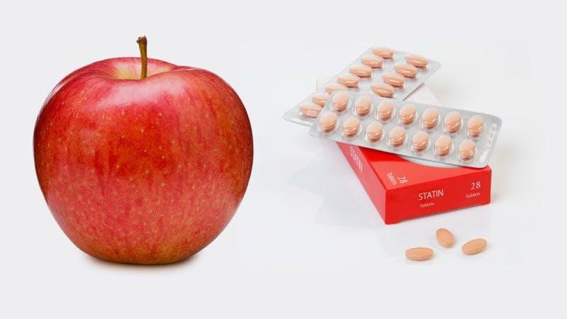 Byt ut statiner mot ett äpple om dagen för att förbättra hjärthälsan, säger hälsoexperter