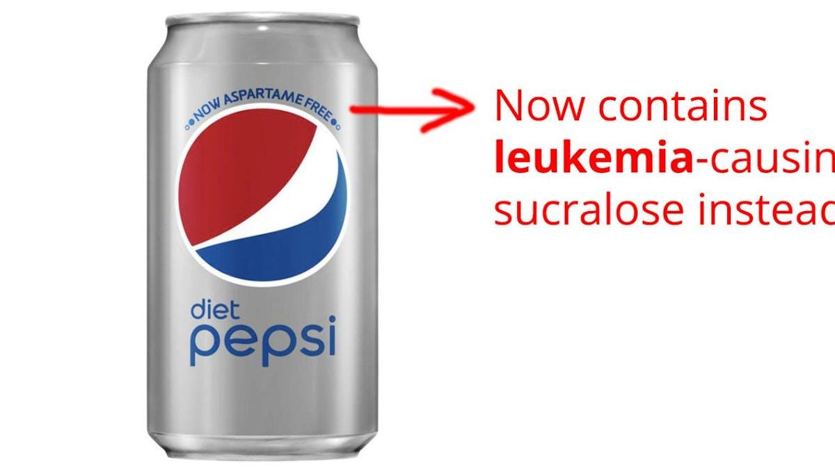 """Diet Pepsi kan kanske orsaka cancer –konsumentförening ändrar från """"försiktighet"""" till """"undvik"""""""
