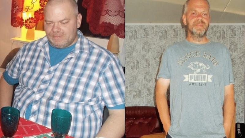 Jan gick ner 46 kilo utan kaloriräkning eller hunger