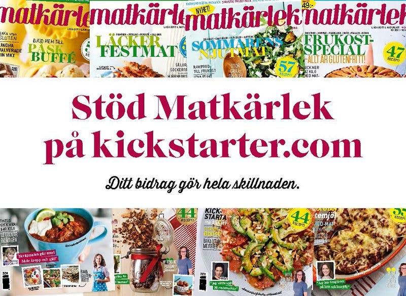 Kickstarter för Matkärleks överlevnad