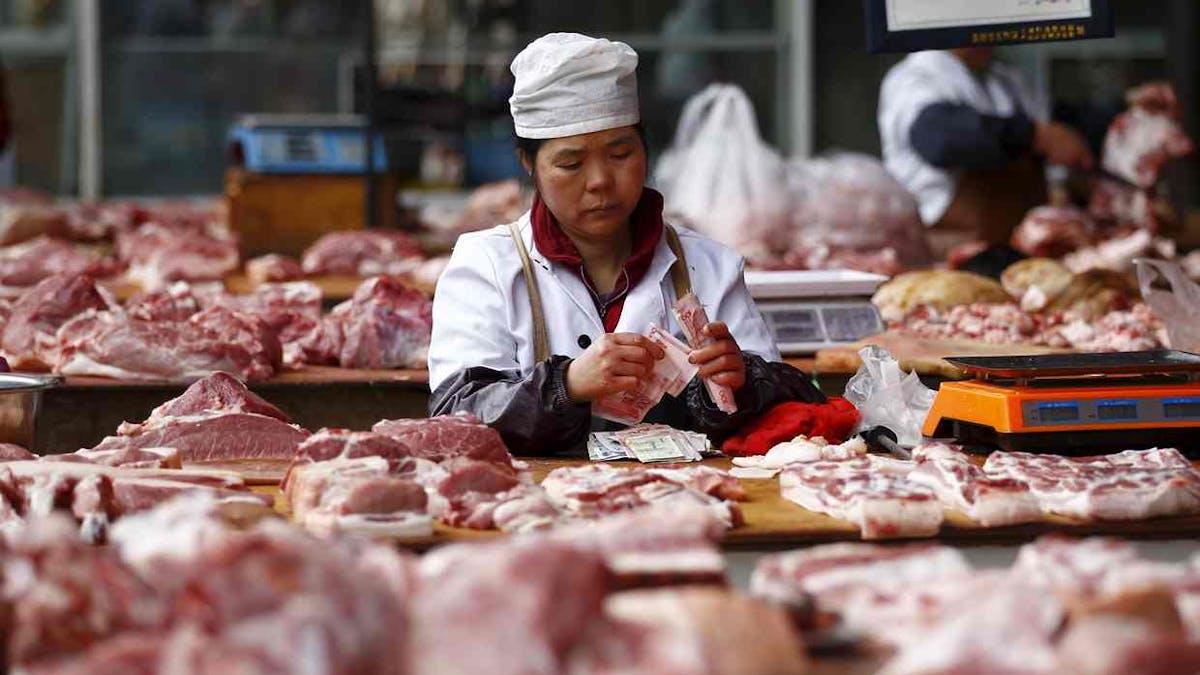 Kinesiska statens kostråd - minska köttkonsumtionen med 50%