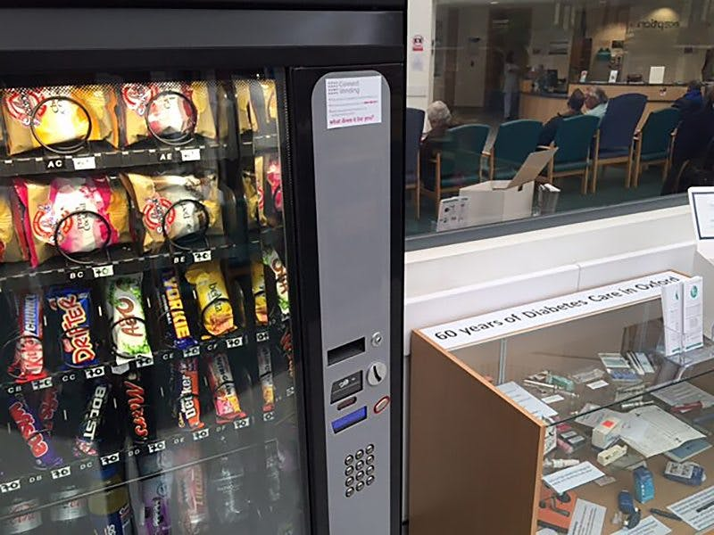 Bild från en brittisk diabetesmottagning (inte ett skämt)