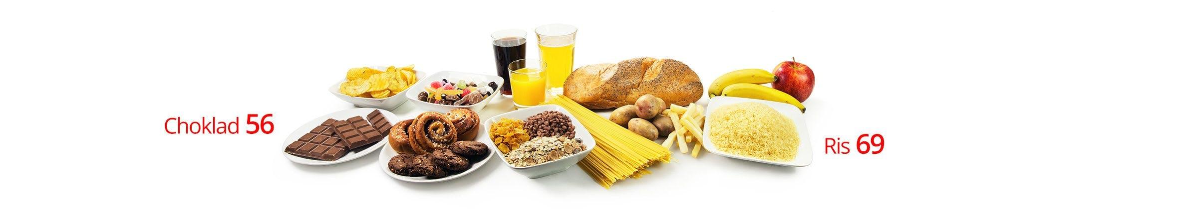 Grains, sugar, starches.