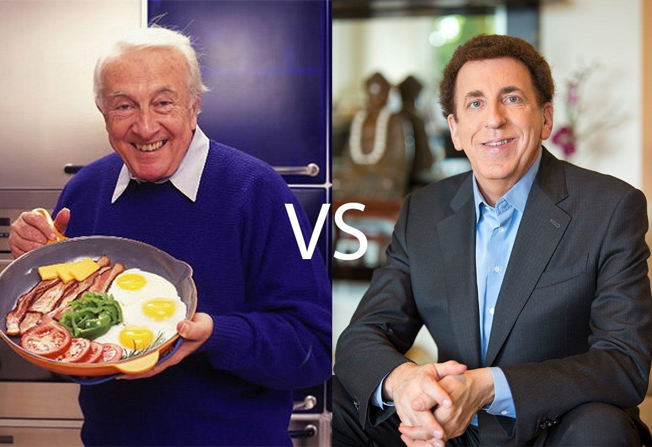 """Rivaliteten mellan Atkins och Ornish: """"Lågkolhydratkost kontra kolhydratrik kost"""""""