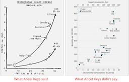 Den dolda sanningen bakom Ancel Keys berömda fettgraf