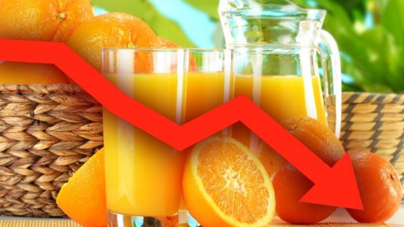 Apelsinjuice minskar i popularitet i USA