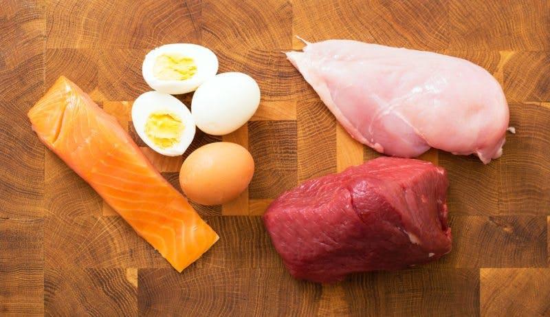 mycket protein lite kalorier