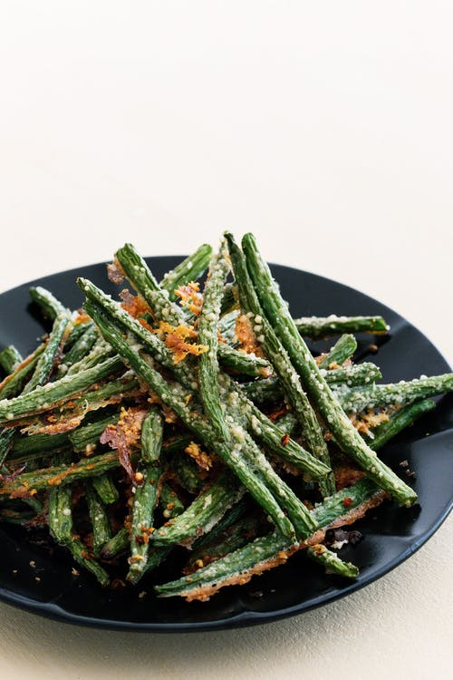 Parmesanpanerade haricots verts