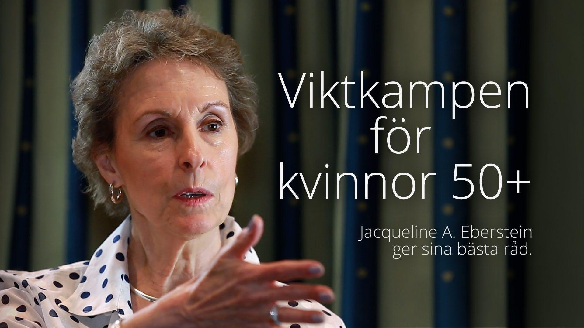Viktkampen för kvinnor 50+ - Jackie Eberstein