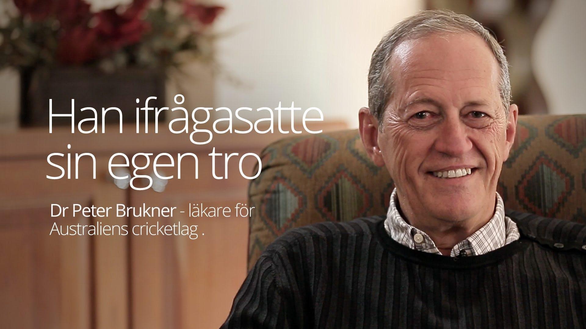 Dr. Peter Brukner - han ifrågasatte sin egen tro (Vail 2016)