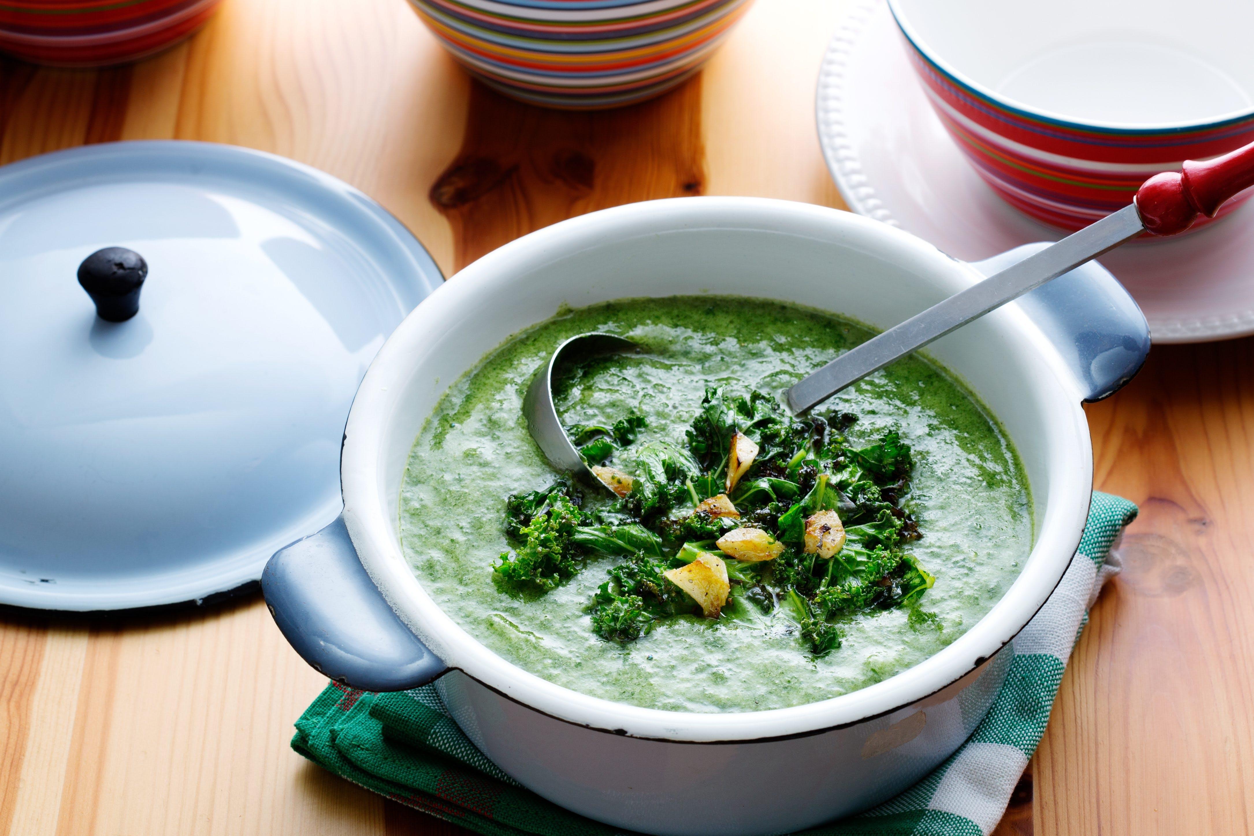 Supergrön vegosoppa