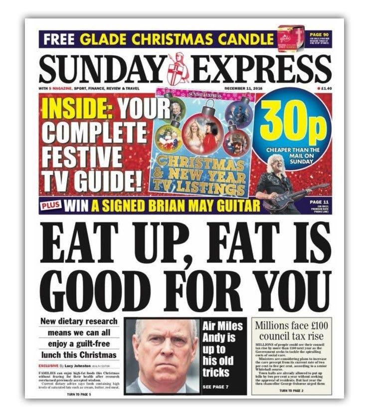 """""""Ät upp, fett är nyttigt"""""""