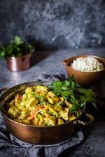 Currykyckling med blomkålsris