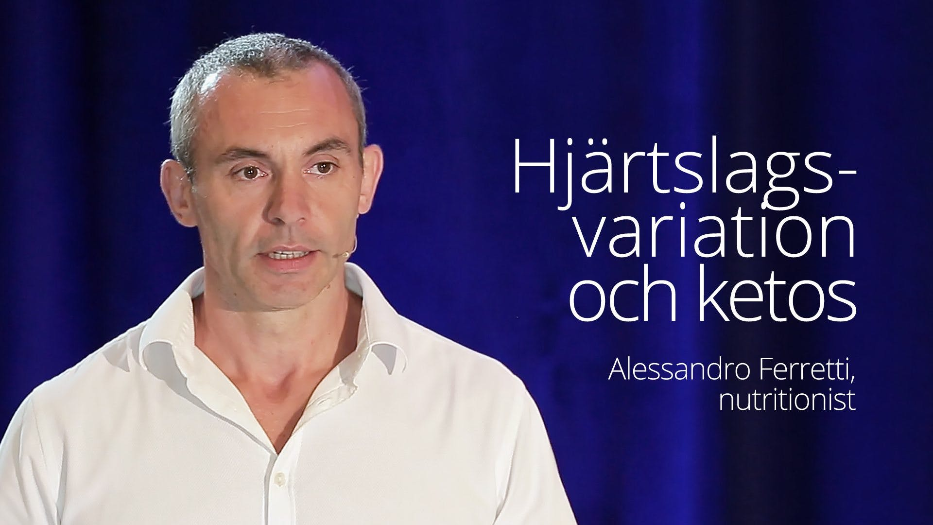 VIDEO: Alessandro Ferretti - Heart Rate Variability and Ketosis (SD 2016)