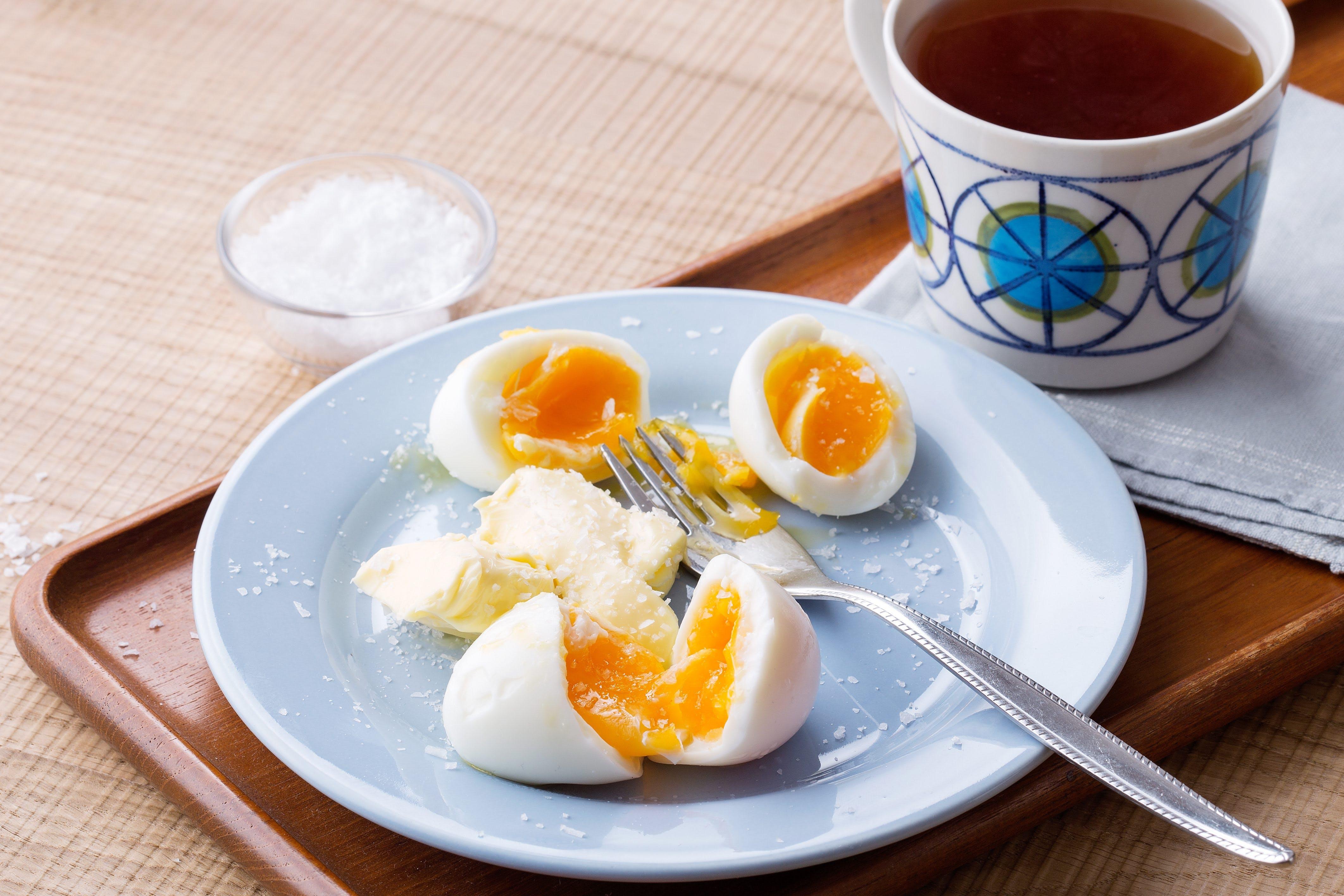 Frukostägg med smör