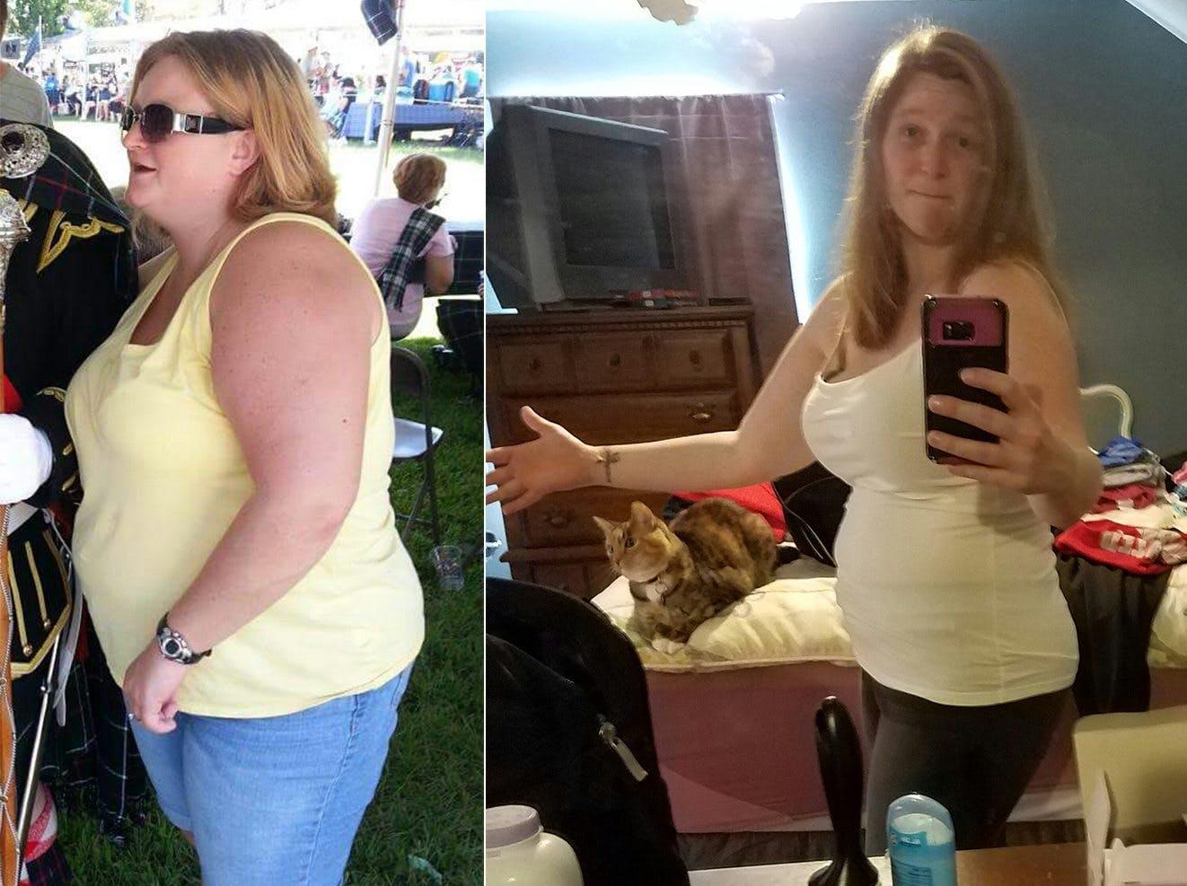 """""""Här är jag, åtta månader senare och 29 kilo lättare"""""""