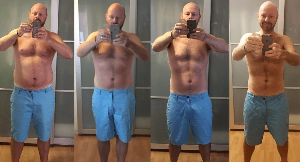 Robbie's weight-loss progress