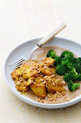 Kyckling med jordnötssås