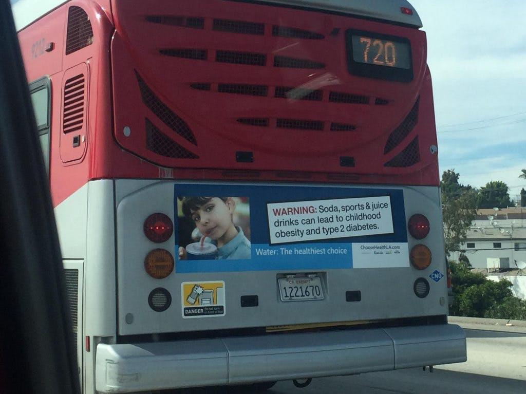 Bussreklam i LA: Läsk orsakar typ 2-diabetes