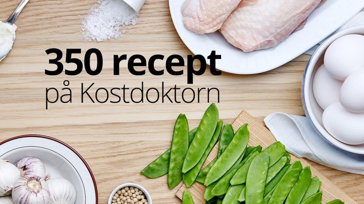 Nu finns över 350 recept på Kostdoktorn