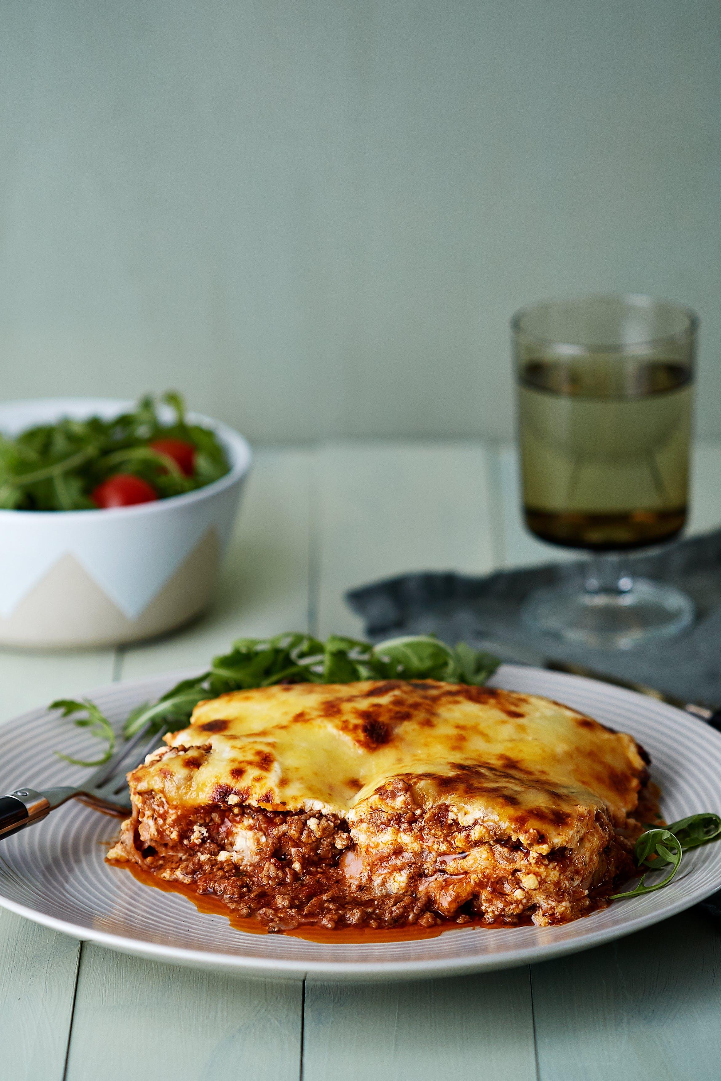 Lasagne med kalkonplattor
