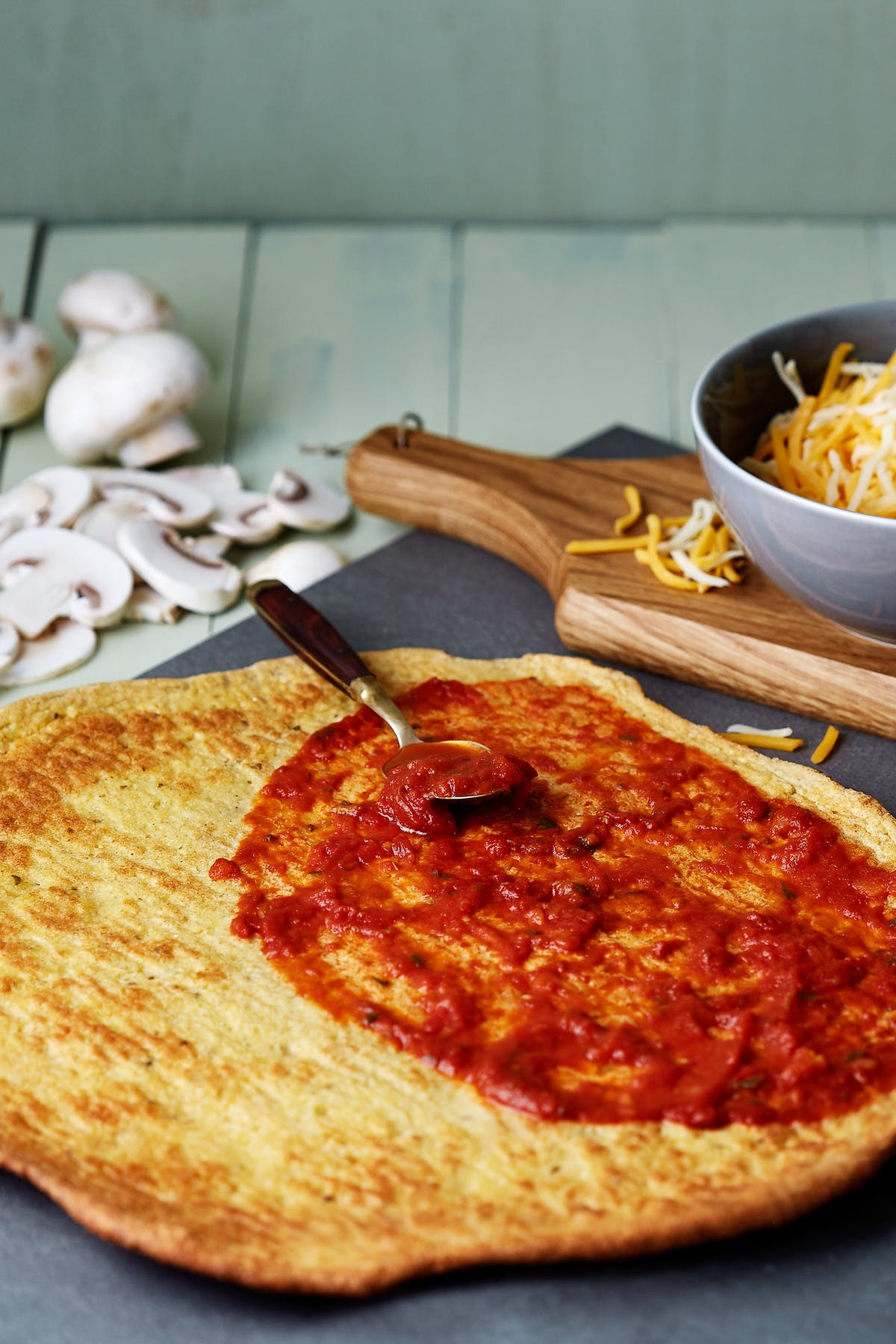 Krispig LCHF-pizzabotten