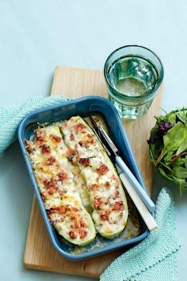 Zucchini fylld med rökt skinka<br />(Lunch)