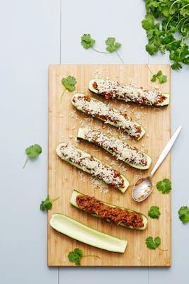 Tacofärsfylld zucchini<br />(Middag)
