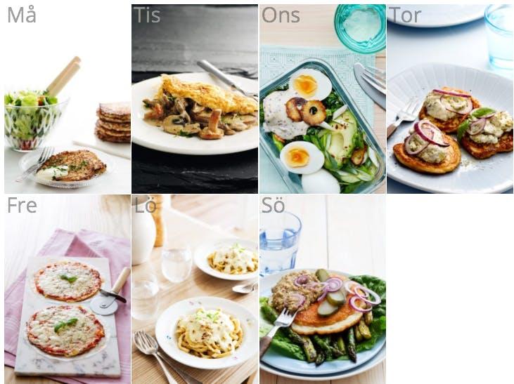 Ny veckomeny som kombinerar vegetarisk och ketogen kost