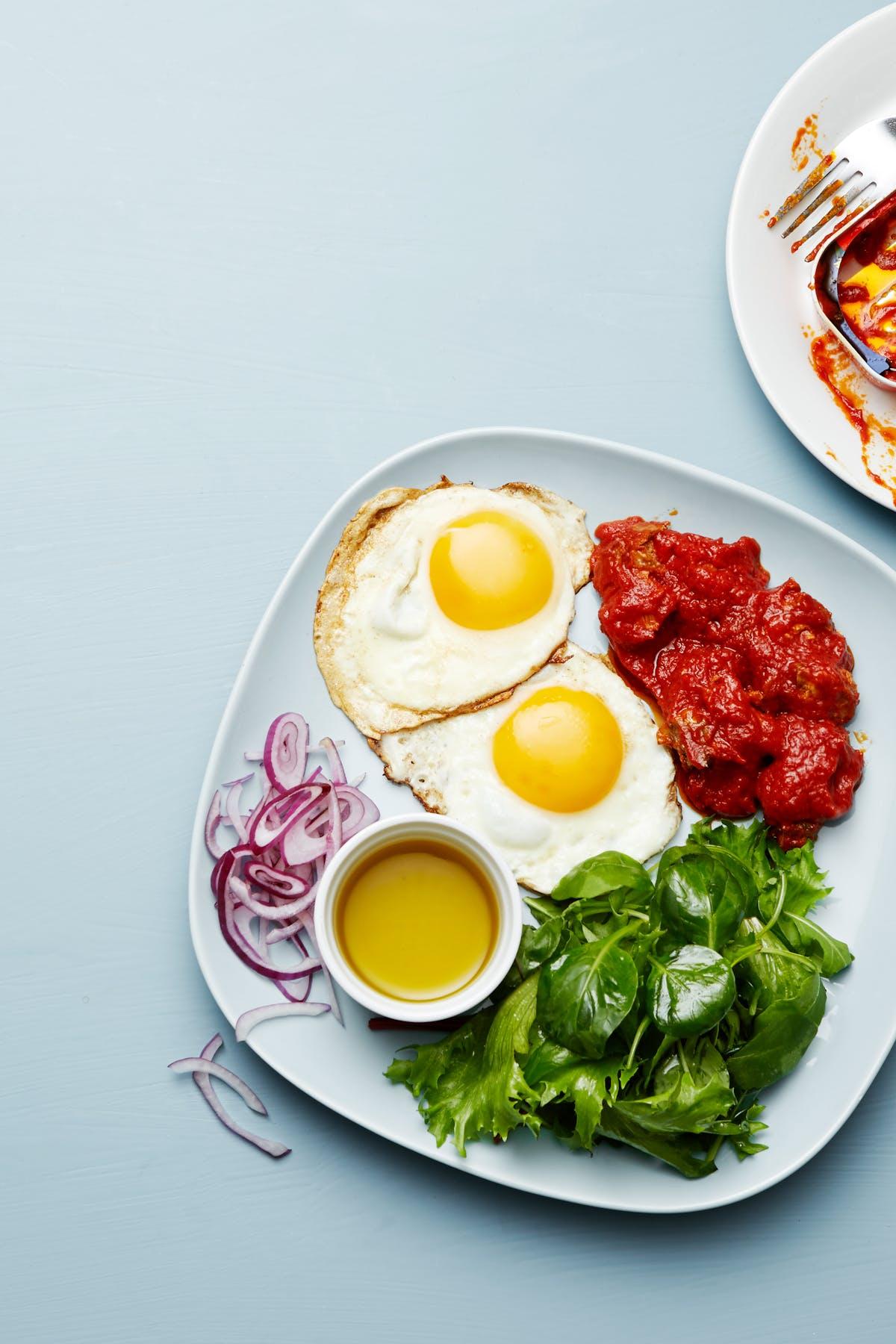 Makrill- och äggtallrik