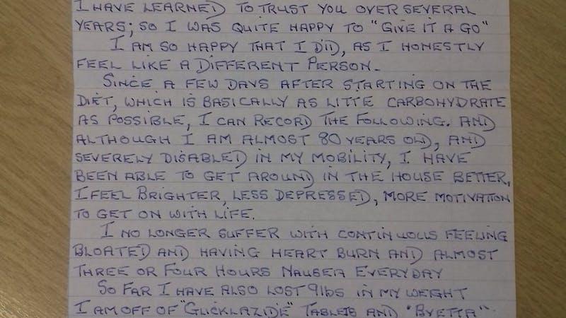 Ett tackbrev från en typ 2-diabetiker