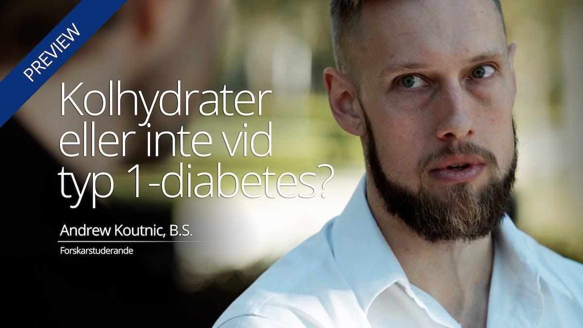 Kolhydrater eller inte vid typ 1-diabetes?