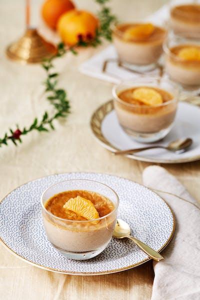 Sockerfri crème brulée med smak av jul<br />(Efterrätt)