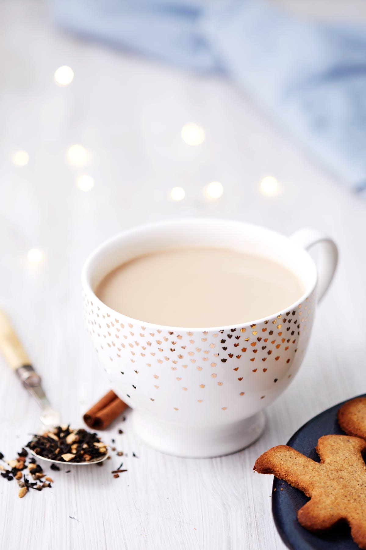 Chai-te med grädde
